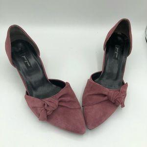 Paul Green pink rose d'orsay suede heels